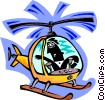 Vector Clip Art graphic  of a helicopter pilot