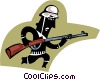 Vector Clip Art graphic  of a German soldier