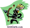 Vector Clipart image  of a savage