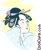 Vector Clipart graphic  of a Japanese woman