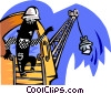 construction worker Vector Clipart graphic