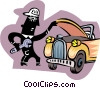 Vector Clipart illustration  of a mechanic