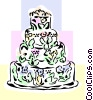 Wedding cake Vector Clipart graphic