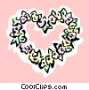 Vector Clipart image  of a Heart of flowers