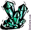 Crystalline shapes Vector Clipart picture