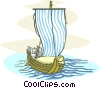 Vector Clipart graphic  of a medieval ship