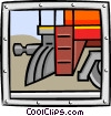 close-up of train Vector Clip Art graphic