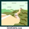 Vector Clipart picture  of a Great Wall of China