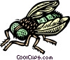 Vector Clipart image  of a fly