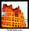 European architecture Vector Clip Art picture
