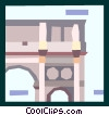 Vector Clip Art picture  of a European architecture