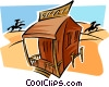 Vector Clip Art image  of a wild west