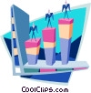 Vector Clipart graphic  of a Business vertical markets