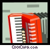 Vector Clip Art image  of a The Arts/Music/Accordion