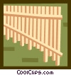 Vector Clipart illustration  of a The Arts/Music/Pan flute