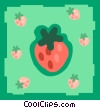 strawberries Vector Clipart illustration