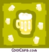 Vector Clip Art graphic  of a beers