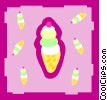 ice-cream cones Vector Clipart picture