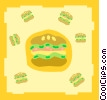 burgers Vector Clipart illustration