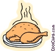 food and dining, turkey Vector Clipart picture
