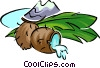 coconut Vector Clipart illustration