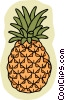 food and dining, pineapple Vector Clipart graphic