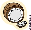 Vector Clipart illustration  of a coconut