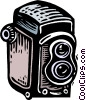woodcut camera Vector Clipart image