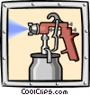 Vector Clip Art image  of a paint sprayer