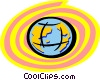Vector Clip Art graphic  of a Colorful Globe
