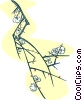 Vector Clipart picture  of a small flower buds