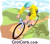 Vector Clip Art picture  of a Cycling enthusiast