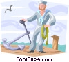 Vector Clip Art image  of a sailor