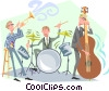 Vector Clip Art graphic  of a Jazz musicians