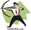 Vector Clipart picture  of an aiming high