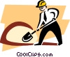 Vector Clip Art graphic  of a digging for prospects