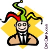 Businessman jester Vector Clipart graphic