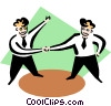Vector Clip Art picture  of a Business cooperation