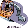 Vector Clipart image  of a digger