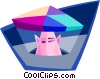 Vector Clip Art image  of a emerging prospects