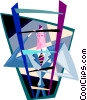 Vector Clipart image  of a climbing the corporate ladder