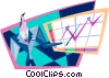 Vector Clip Art image  of a charting sales