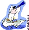 ship captain Vector Clip Art picture