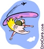 Vector Clip Art image  of an air surfer