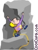 rock climber Vector Clipart illustration