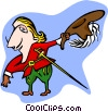 Vector Clipart graphic  of a musketeer