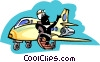 Vector Clip Art graphic  of a pilot