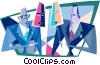 Vector Clip Art graphic  of a two-faced businessmen