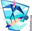 business surfer Vector Clipart graphic
