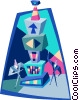 Vector Clipart picture  of a super computer